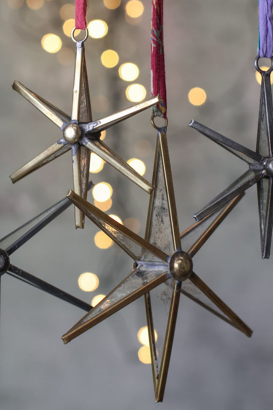 Brass star decoration: set of two - Christmas - Decorator's Notebook
