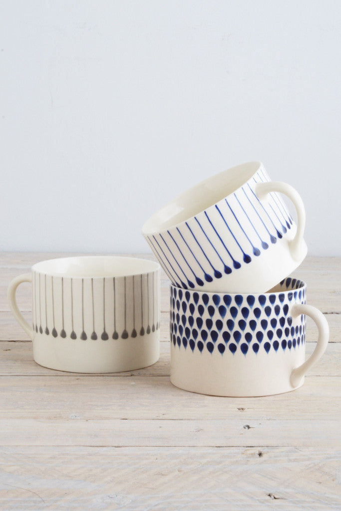 Indigo line mug - Kitchen and Tableware - Decorator's Notebook