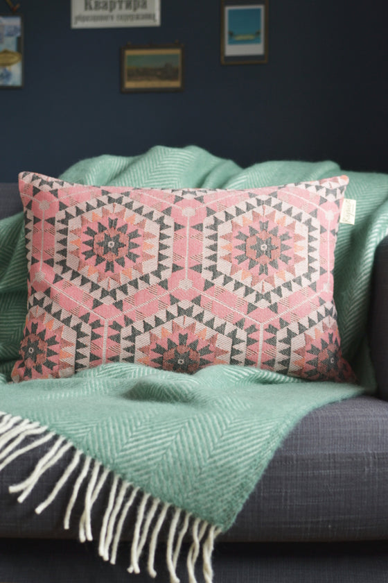 Honeycomb cushion cover: rose pink - Cushions - Decorator's Notebook
