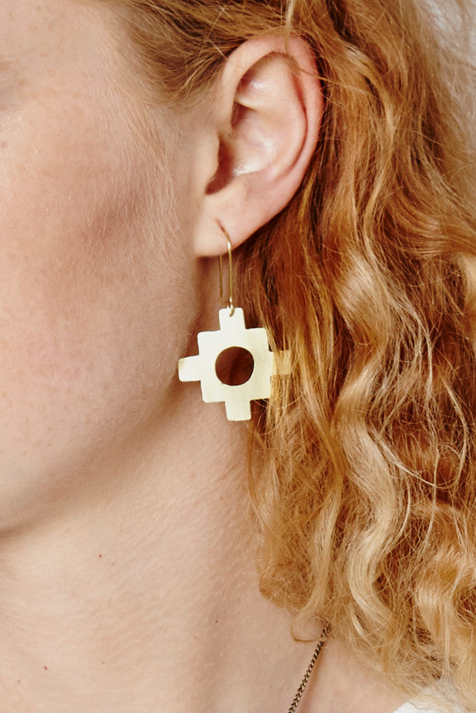 Inca Cross earrings - Jewellery - Decorator's Notebook