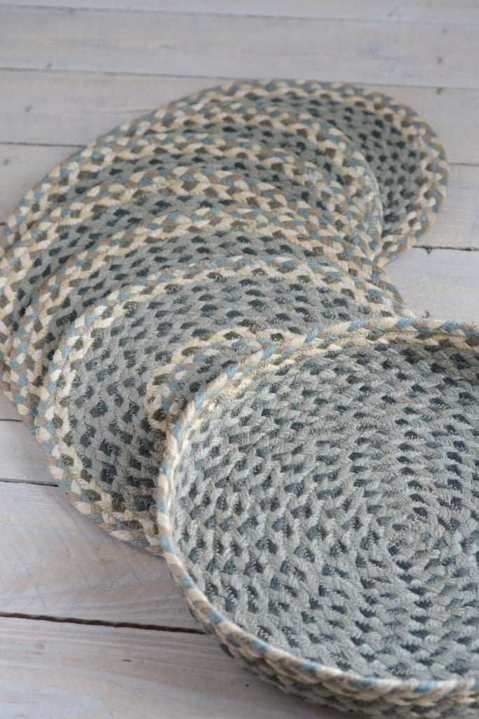 Pebble Pale braided placemats: set of six - Kitchen and Tableware - Decorator's Notebook