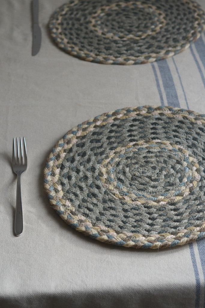 Pebble Pale braided placemats: set of six