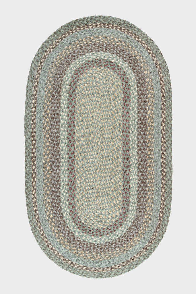 Braided jute oval rug: Seaspray
