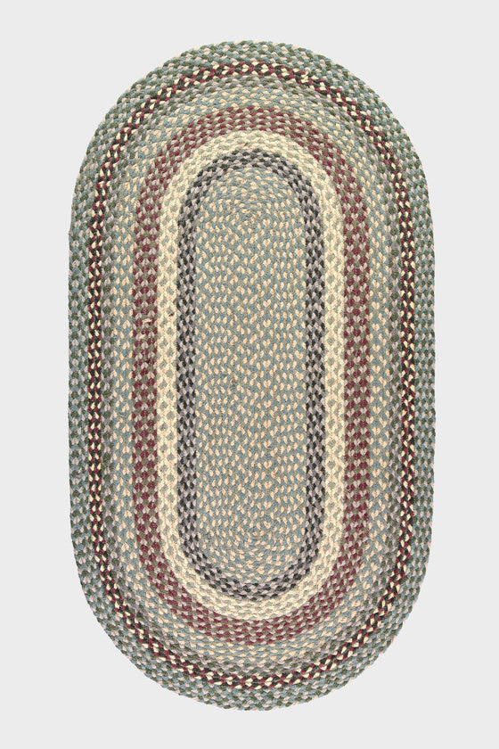 Braided jute oval rug: Tundra