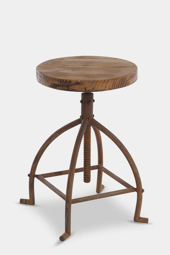 'Karisa' adjustable industrial stool