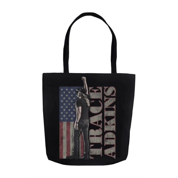 Flag Tote Bag (Black)