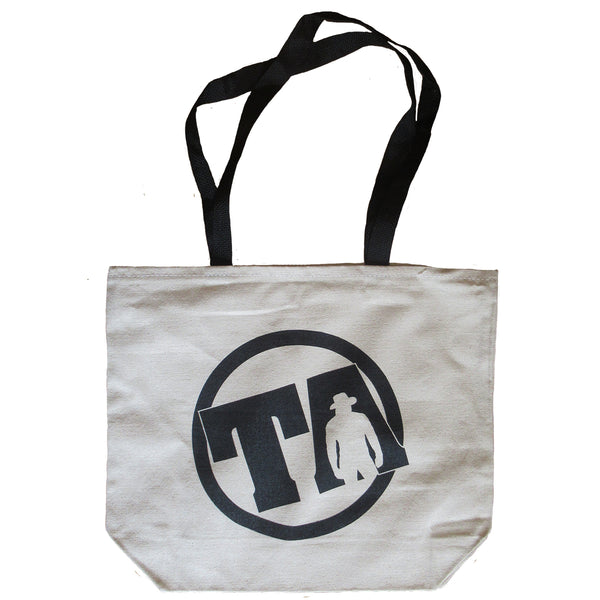 White Logo Tote Bag