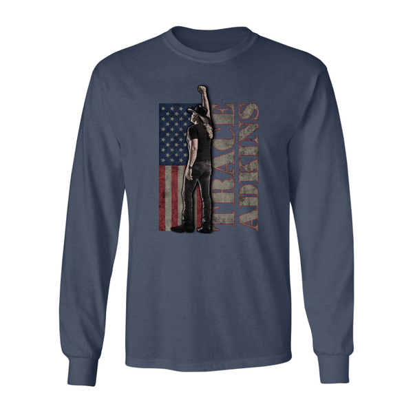 Trace Adkins Long Sleeve Flag T-Shirt