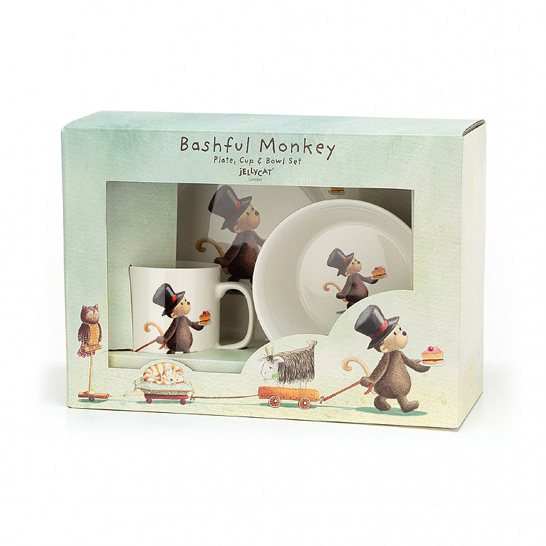 Monkey cup, bowl and plate set