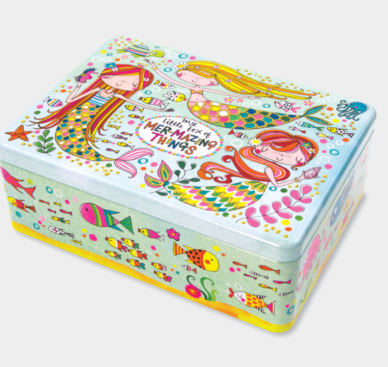 Rachel ellen flittered tin, mermaid