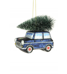 Mini car decoration - blue.