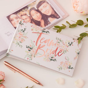 Team bride photograph album