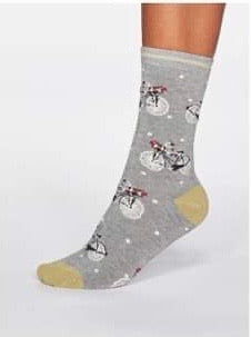 Gladys spotty bicycle  bamboo sock