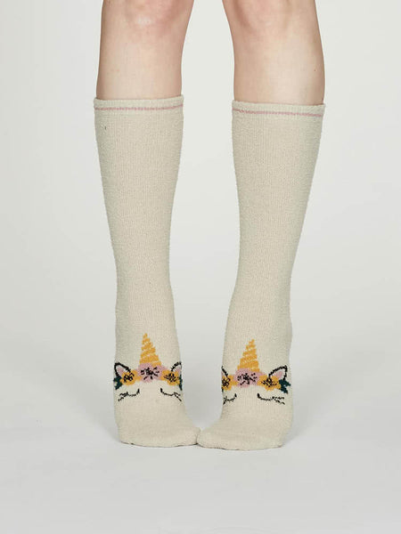Thought Rebecca Bamboo Fuzzy Socks in Cream
