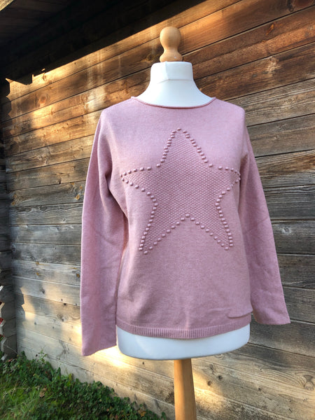 Baby pink jumper with star