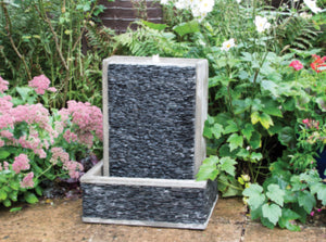 Large slate horizon water feature