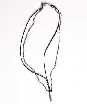 CHAIN AND CORD NECKLACE