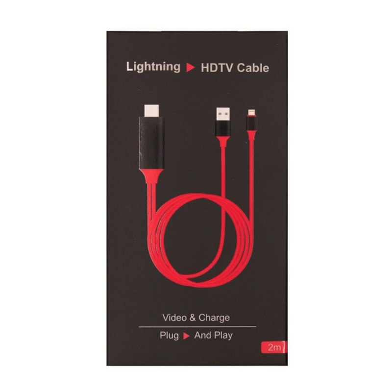 Lightning to 1080P 8Pin HDMI HDTV AV TV Adapter Cable Cord For iPhone 6//7//8//X//XS