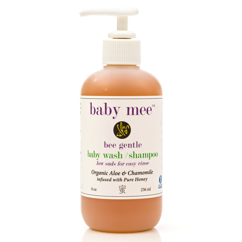 Baby & Kids Shampoo Body Wash  - Organic Aloe, Organic Chamomile Extract, & Natural Honey. 8 Oz.