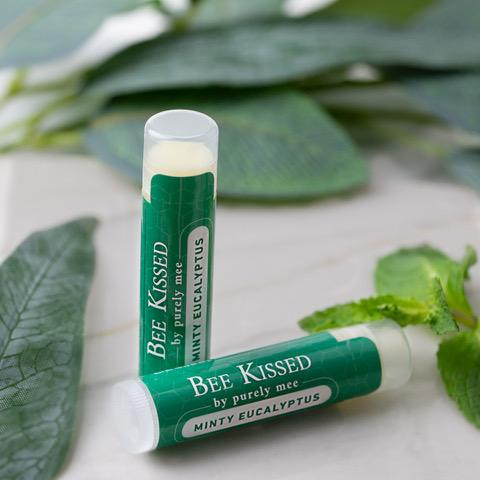 Bee Kissed Organic Lip Balms - Minty Eucalyptus