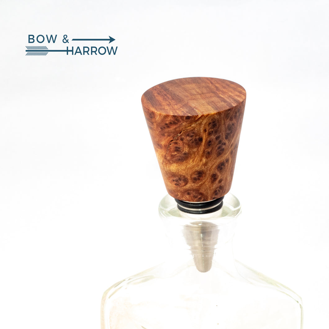 Cone Bottle Stopper - Redwood Burl