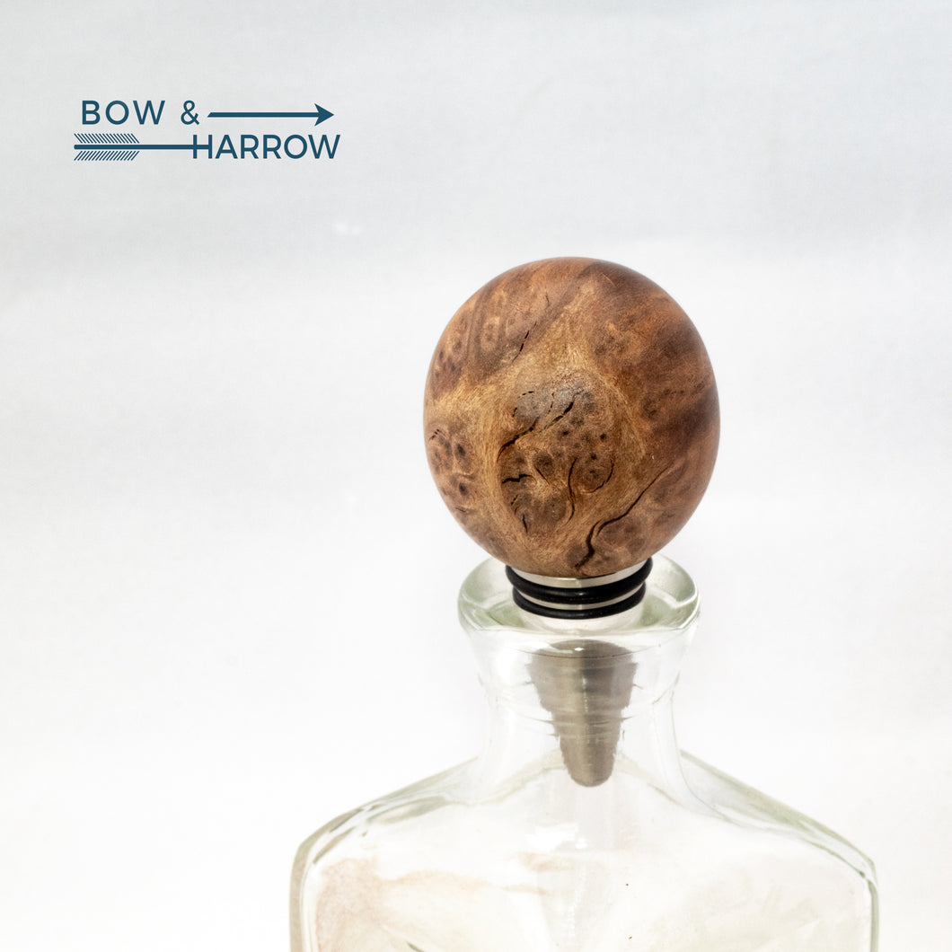 Round Bottle Stopper - Redwood Burl