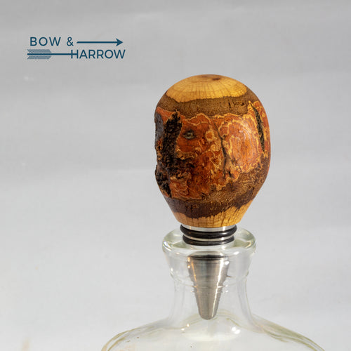 Live Edge Turned Bottle Stopper