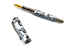 The Clooney | Great White Resin Fountain Pen