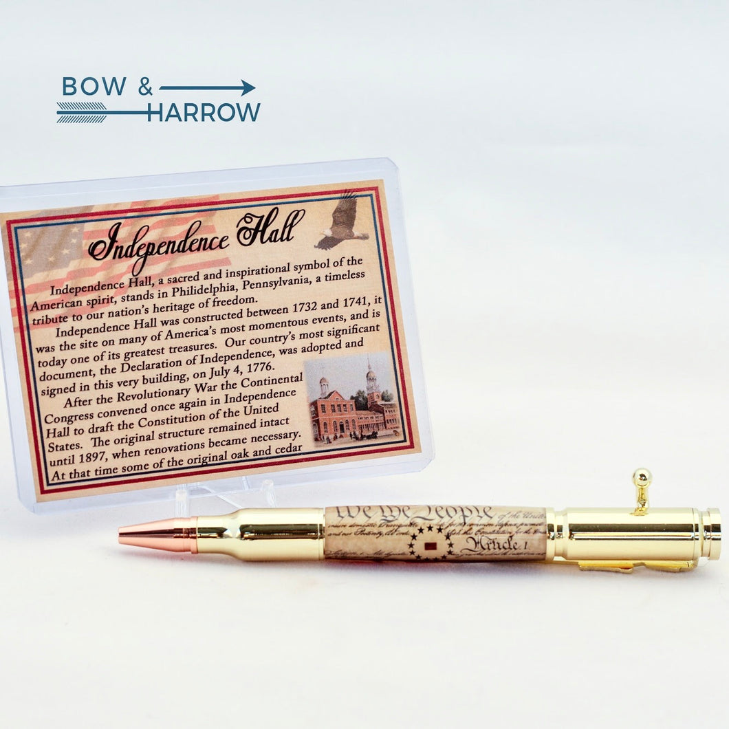 Independence Hall Embedded Artifact - Bolt Action Ballpoint