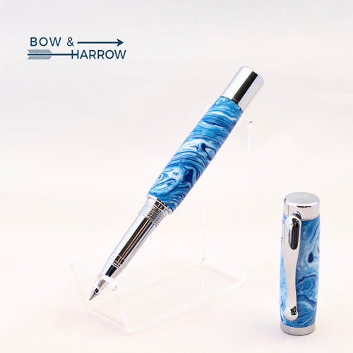 Blue Swirl Resin Rollerball