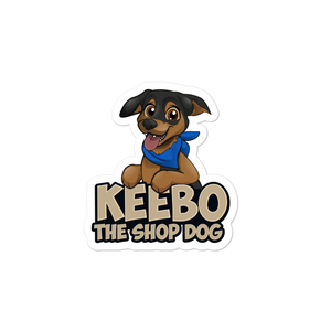 Keebo The Shop Dog Stickers