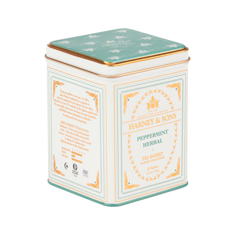 Peppermint Herbal, Classic Tin of 20