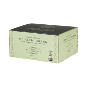 Organic Green with Citrus and Gingko, Box of 50 Foil Wrapped Tea Bags