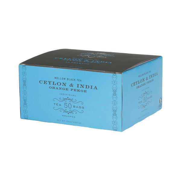 Ceylon & India Orange Pekoe, Box of 50 Foil Wrapped Tea Bags