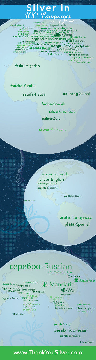 Silver In 100 Languages Thank You Silver