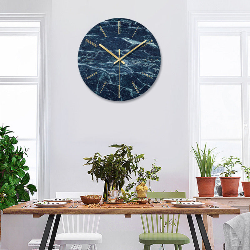 Creative Modern Tempered Glass Wall Clock Home Clock Minimalist Living Room Clock