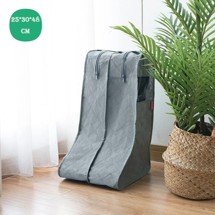 Transparent Dustproof Moisture-proof Household Travel Boots Shoes Storage Bag Sorting Bag