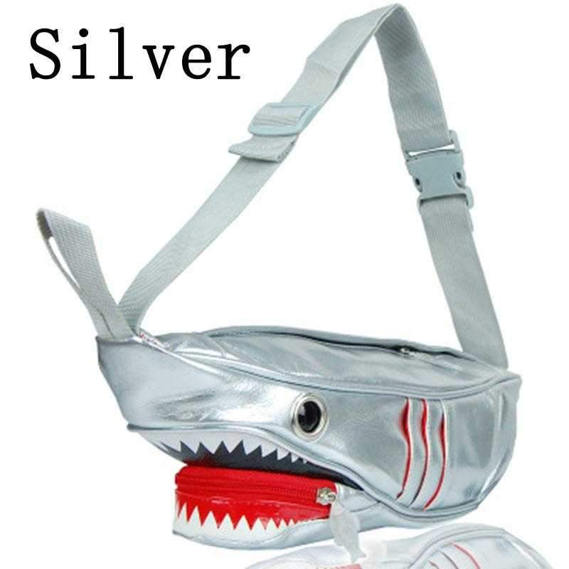 Creative Shark Shoulder Bag Cartoon Crossbody Shoulder Bag for Men & Women