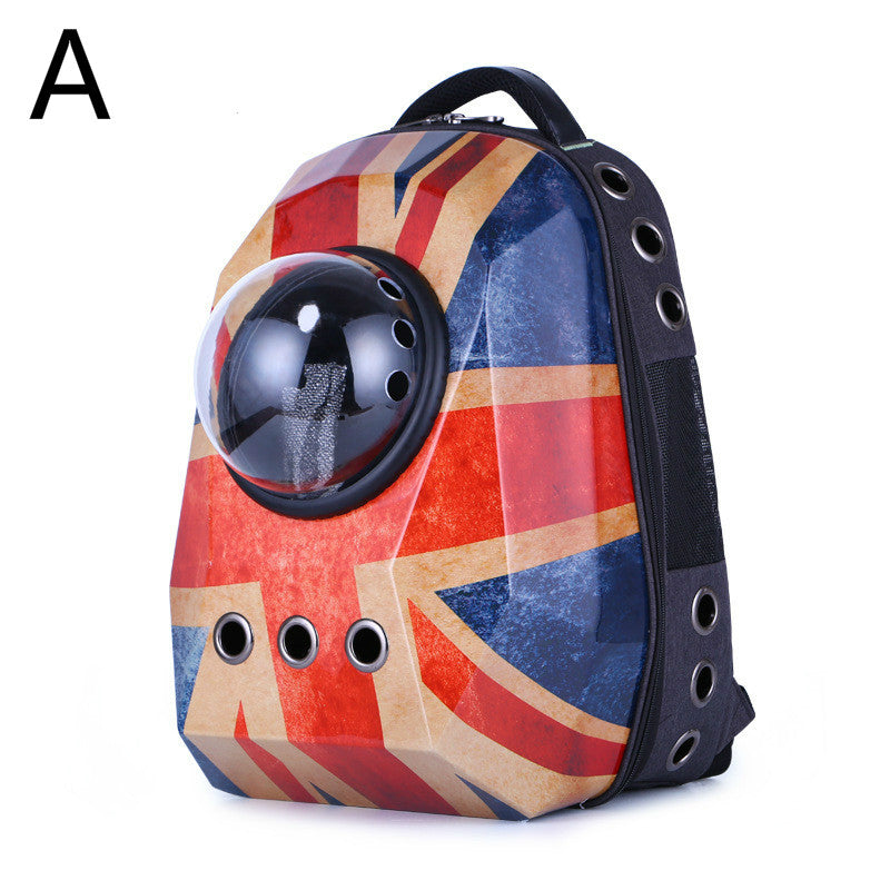 Space Pet Travel Carrying Breathable Shoulder Backpack Outdoor Travel Portable Bag