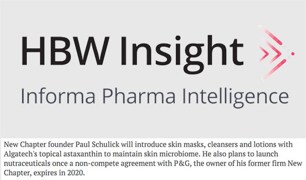Skin Care Line First For New Chapter Found Schulick, Nutraceuticals In 2020