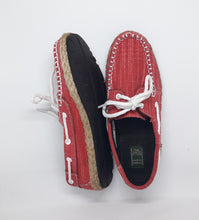 Load image into Gallery viewer, Ladies Topsider Red