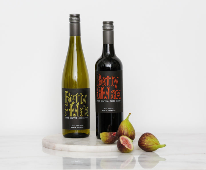 White + Red - Betty & Max Riesling & Shiraz