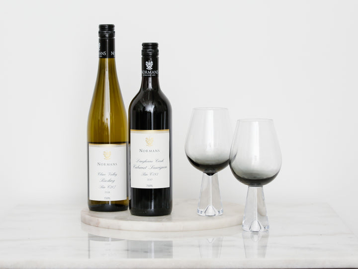 White + Red - Normans Wines Riesling and Cabernet Sauvignon