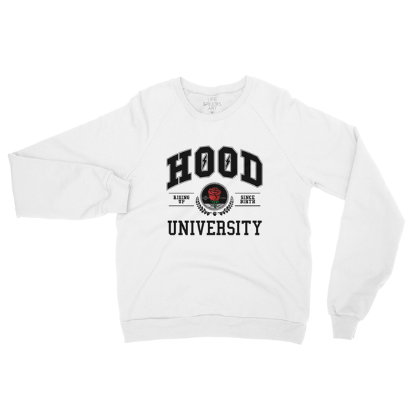 HOOD UNIVERSITY FLEECE SWEATER