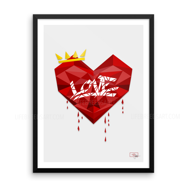 Real Love Poster - Framed