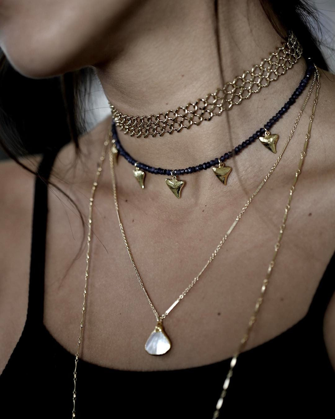 marina necklace - mother of pearl