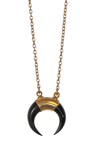 luna mini necklace - black
