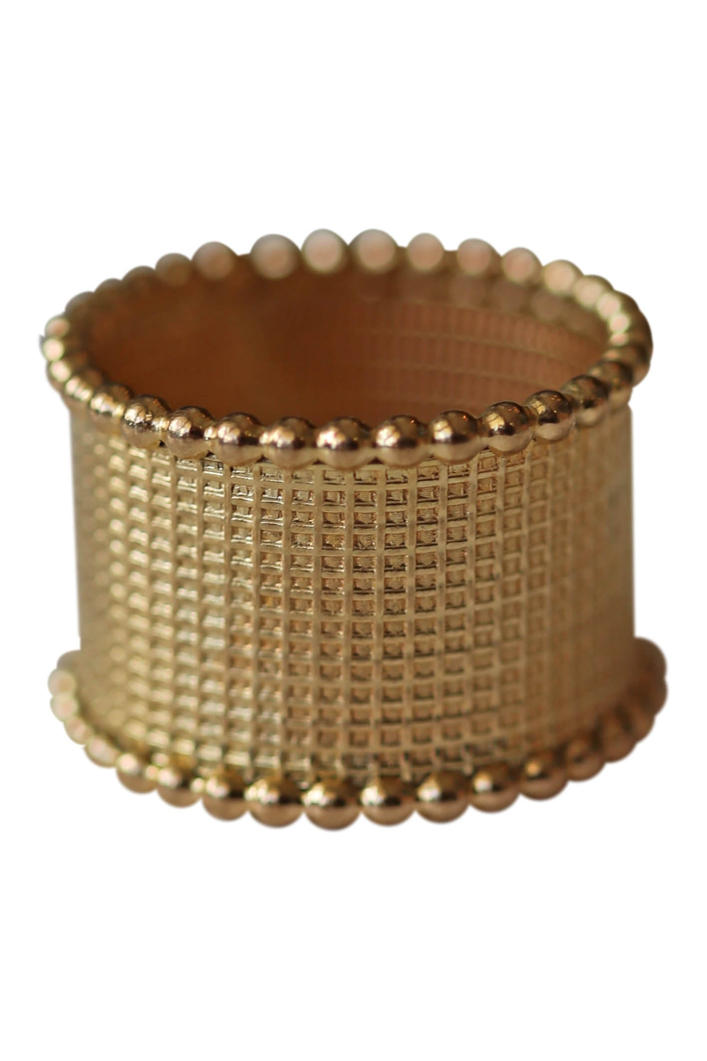 gold texture band ring