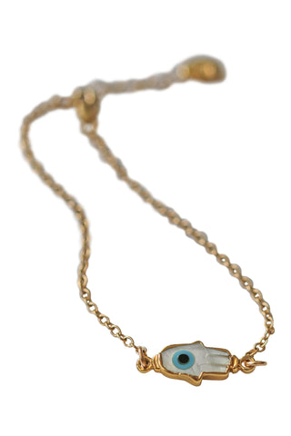 greek eye hamsa bracelet