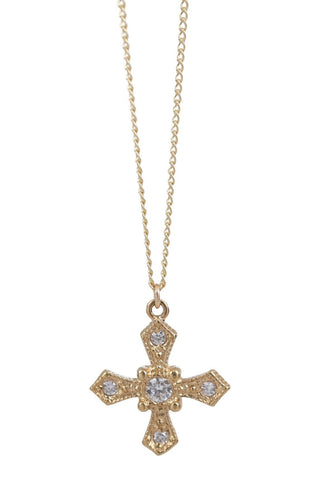 baroque cross necklace